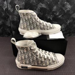 Caja dmx online-Dior casual shoes con la estrella de la caja deportes tecnología de impresión clásica de los zapatos de lona sentido de los hombres de las mujeres bajo-top