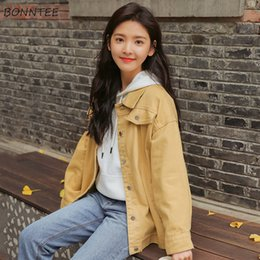 Seni graziosi online-Giacche Donna Lovely Sweet Girl Studenti Nuove tasche colletto rovesciato Casual monopetto stile coreano 2019 Chic Womens Daily