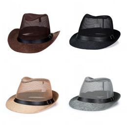 630c8bbe Outdoors Straw Caps Ultraviolet Proof Pure Color Fiberflax Sun Shading Top Hat  Summer Men Wide Brim Hats Hot Sale 7ycE1
