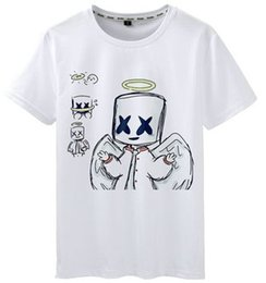 942b0afe6fa Angel t shirt Marshmello wing short sleeve tops Top DJ photo unisex  fastness tees Colorfast print clothing Pure color modal tshirt