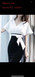faldas de longitud media de las mujeres Rebajas Vestidos de verano vestido negro batas de femmes jupe vestidos para mujer túnica Moda bolso delgado cadera falda mid-length Ropa de mujer ropa de mujer