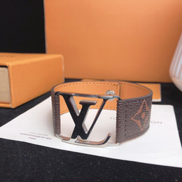 Herren-leder-schmuck online-Neue mode ins deluxe brand design armband mode runde lederarmband mit goldenen tasche männer und frauen blume armband schmuck