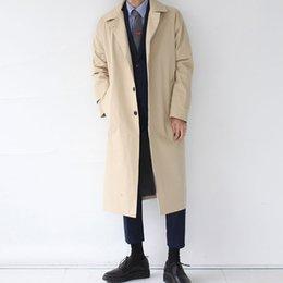 2019 estilo de japão estilo japão Japan Style Mens Trench 2019 Fashion Designer longo Windbreaker Outono Inverno Único Breasted Windproof Overcoat Além disso, estilo de japão estilo japão barato