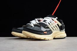 2019 sapatos de senhora para homens 2019 OFF-WHITE x Air Nike Presto novo 1.1 original Presto V2 Ultra BR TP QS preto e branco X tênis de corrida baixo preço homens das senhoras dos esportes Airs Prestos calçados esportivos ao ar livre sapatos de senhora para homens barato