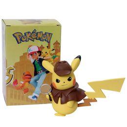 Argentina Detective Pikachu Figuras de acción Muñeca Juguete Pikachu POP Video Doll Ven con la caja de color Colección de empaque memorial D cheap video came Suministro
