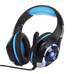 Fasce cablate online-Beexcellent GM-1 Gaming Headphone con microfono LED Light Stereo Game Headset 3.5MM Wired USB Headband Headphones per PC / PS4 Gamers