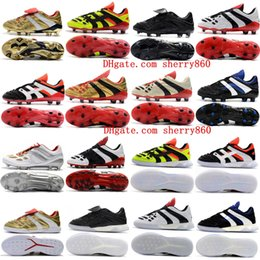 2018 crampons de football pour hommes Predator Accelerator Electricity FG chaussures de football en cuir PREDATOR ACCELERATOR TR Crampons de chaussures de football pas cher ? partir de fabricateur