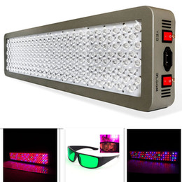 Gafas de luz led online-12-Band Medical P600 600W Full Spectrum LED Planta de cultivo Luz VEG / BLOOM Dual Chip Hydroponics Grow Tent Lámpara Gafas GRATIS P300 P450