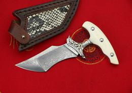 Лезвия кинжала из дамасской стали онлайн-Качество Hgih толкать Кинжал открытый фиксированным лезвием нож EDC карманные ножи VG10 дамасской стали одним краем Танто лезвие ножа