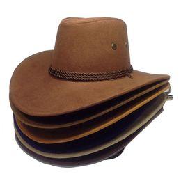 sombreros de sol fresco mujeres Rebajas Enfriar los sombreros de vaquero occidentales Hombres Mujeres Sun Visor Cap Rendimiento de viajes a Oeste de sombreros de vaquero chapeu 9 colores