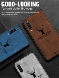casos mi nota Rebajas Funda de teléfono de lujo con patrón de tela para Xiaomi Mi 9T Pro 9 MIX 4 A3 A2 Funda de silicona retro Deer para Redmi Note 8 7 Pro Coque