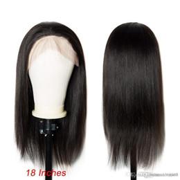Lisa cheveux en Ligne-Perruque brésilienne sans colle avec des cheveux de bébé Full End Remy pré plumée perruque de cheveux mi Lisa noir femmes