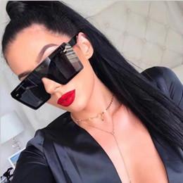 2019 occhiali da sole di grande uomo Hot Big Men Occhiali da sole Vintage Square Frame Fashion Occhiali da sole per donna PC Pilot Frame 7 colori occhiali da sole di grande uomo economici