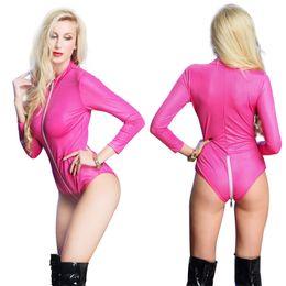 Europeus e americanos por divisão de código 2XL couro lingerie de couro collant luz pole dancing discoteca dançar delírio 66 de Fornecedores de babados de biquíni monokini