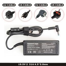 Laptop DC Adaptör Şarj Siyah Renk 19.5 V 2.31A 45 W AC Kablosu ile laptop için cheap dc cable for hp nereden hp için dc kablosu tedarikçiler
