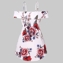 Верхняя блузка онлайн-Женская Мода Спагетти Ремень с Холодным Плечом Цветочный Принт Повседневная Топ Блузка Мода Sexy Ladies Летние Блузки Женская Одежда