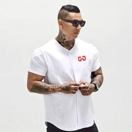 Abgeschnittene trikots online-Herren Baseball Jersey Neuheit Cropped Tee Herren T-Shirts Kurzarm T-Shirt Sportswear