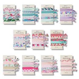 11 style cravates licorne flamingo modèle accessoires de cheveux mode dessin animé modèle bandes élastiques 5pcs 1card ? partir de fabricateur