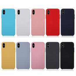 Высокое качество дешевые сотовые телефоны онлайн-Силиконовый чехол для телефона для Apple iPhoneX iPhone 8 7 Plus 6 6 S дешевые чехлы для сотовых телефонов обложки сплошной цвет высокое качество
