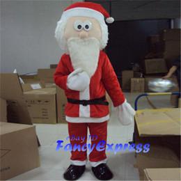 trajes de fantasia de santa Desconto Papai Noel traje de mascote Natal Fancy Dress desempenho terno adulto