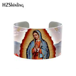 Jungfrau armbänder online-2020 jungfräuliche Mutter Maria Wunderbare Medaille justierbares Armband Armband Mary Mutter von Jesus Christus Armband Schmuck guadalupe