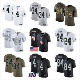 salute service fußball jersey Rabatt Benutzerdefinierte Raiderss Jerseys Bo Jackson Derek Carr Marshawn Lynch Antonio Brown Rausch Vapor Salute to Service-Mann-Fußball-Jersey