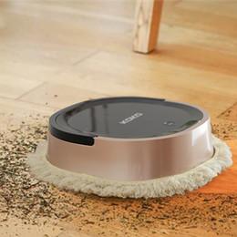 Pulisce i pavimenti online-Aspirapolvere robot spazzare a secco e asciugare a umido per la pulizia automatica di pavimenti in legno