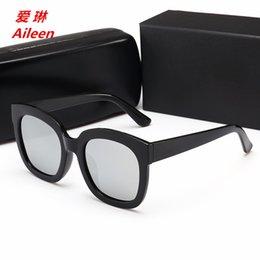 Argentina 2019 Nuevas gafas de sol polarizadas Gafas de sol coloridas de verano Cuatro metros cuadrados Cara redonda blanca Gafas grandes Suministro
