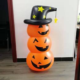 2019 soprando inflável Decoração Halloween Party 1.35m inflável Abóbora Espírito Santo Witch Hat DIY Blow Up abóbora de Halloween brinquedo inflável da abóbora DBC VT0867 soprando inflável barato
