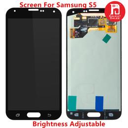 Bildschirm lcd serie online-Lcd display für samsung galaxy s5 i9600 g900 g900f serie helligkeit einstellbar touchscreen ersatz schwarz weiß 100% test