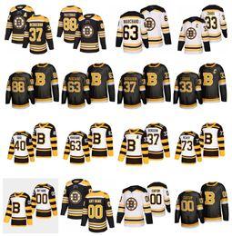 nhl hockey jerseys boston bruins Rabatt NHL Boston Bruins Jersey 37 Patrice Bergeron 88 David Pastrňák 63 Brad Marchand 4 Bobby Orr 40 Tuukka Rask Zdeno Chara Jake DeBrusk Hockey