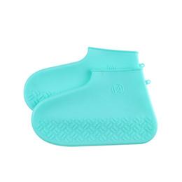 chiodi di scarpe rotonde colorate Sconti Copriscarpe Giorni di pioggia Impermeabile pieghevole Elastico da viaggio Protezione antiscivolo Calzature Silicone Riutilizzabile Solido Antipioggia per esterno