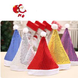 2020 paillettenhüte Neue Pailletten Erwachsene Weihnachten Hut Mode Winter Warme Pompon Santa Beanie Hut Hochzeit Liefert Dekoration T2C5084 günstig paillettenhüte