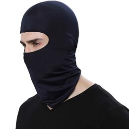 Dünne gesichtsmaske online-Heißer Verkauf Radfahren Gesichtsmaske Ski Neck Schutz Outdoor Balaclava Vollgesichtsmaske Ultradünne Atmungsaktiv Winddicht