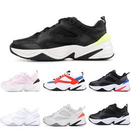 2019 sapatos pretos novo modelo 2019 Novo Zoom M2K Vela Branco-Preto Marinha Laranja Mens Sapatos Esportes Ao Ar Livre 90 s estilo de basquete M2k Tekno modelo Moda Masculina Tênis de grife sapatos pretos novo modelo barato