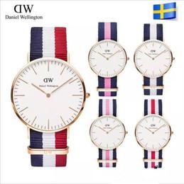 relógios de couro casais Desconto 36mm lady wellington relógios casal marca de luxo aaa relógio mulheres 36mm relógio de moda couro cinto de nylon à prova d 'água assista relojes montre femme