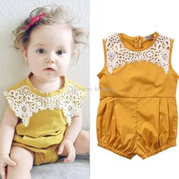 b294095a9b5 Baby girls Sleeveless romper INS newborn infant lace Jumpsuits 2019 summer  fashion Boutique kids Climbing clothes C6112