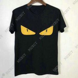 Deutschland Sommer Mode Designer Luxus Marke Männer T-Shirt T-Shirt 3D gelb kleine Leder Augendruck Tshirt Kurzarm T-Shirt lässig Tees Casual Top supplier men leather t shirt Versorgung