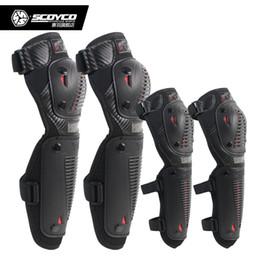 Almofadas de joelho scoyco on-line-SCOYCO K10H10-2 Joelheiras Da Motocicleta ElbowKnee Protetor de Moto Bicicleta Ciclismo Equipamentos de Proteção de Motocross Joelheiras