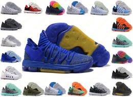 promo code 28f07 9803a Korrekte Version der Herren Nike Zoom KD 10 EP Basketballschuhe Kevin Durant  X kds 10s Regenbogen Wolf Grau KD10 FMVP Sport-Turnschuhe US 40-46 günstig  ...