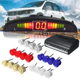 Sensore parktronic online-Auto Led Sensori di parcheggio Parktronic 5 colori Display 4 sensori Reverse Assistenza Radar Monitor Parking System BBA213