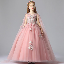 Hot Sale Flower Girls Dresses Appliques Cute Litter Girls Pageant Gown For  Wedding Custom Made Modern Fashion Plus Size
