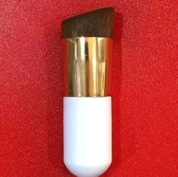 crème de nylon Promotion BB Crème Maquillage Pinceaux Nylon Cheveux Pinceau Oblique tête Fondation Maquillage Pinceaux Cosmétiques 2 couleur KKA6445