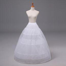 Bullicio online-2020 A-Line Cheap Petticoat Ball Gown Vestido de fiesta nupcial Crinoline Quinceanera Underskirt Accesorio de boda Ropa interior blanca Bustle 12011