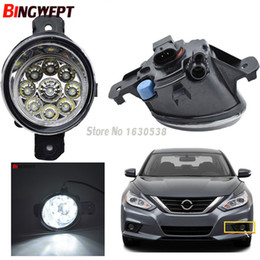 Nissan drl online-2X Angel Eyes Car Styling 55W LED / Augelo Fendinebbia Light Lights DRL Refit per Nissan Qashqai Altima Micra Sunny Versa X-Trail Dulias