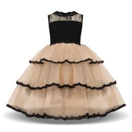 Vestidos de noche para niños online-Vestidos de verano para niños Princesa Fiesta Tutu traje de encaje de los niños de la boda de dama de honor vestidos de noche Vestido Infantil