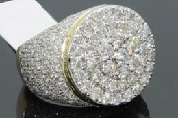 Glückliche ringe online-Heiße neue vergoldete Separationen Herrenringe Europe Happy Diamond Micro Set Zirkon Ring Größe 6-12