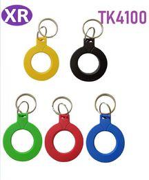 2019 metallo di prossimità Tag ABS con anello in metallo 1000 PZ 125 KHz 5 colori TK4100 RFID keychian EM4100 Proximity Portachiavi Access Controller Portachiavi metallo di prossimità economici