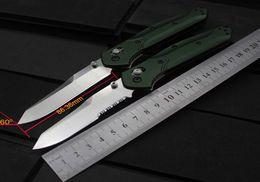 """Cuchillo plegable 940 Osborne Benchmade 3.4 """"S30V hoja llana satinada, mangos de aluminio verde desde fabricantes"""