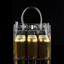 Trasparente Tote Shopping Bag Borsa amichevole trasparente Borsa in plastica in PVC Custodia portatile per alimenti Facile da trasportare Moda # 89884 da